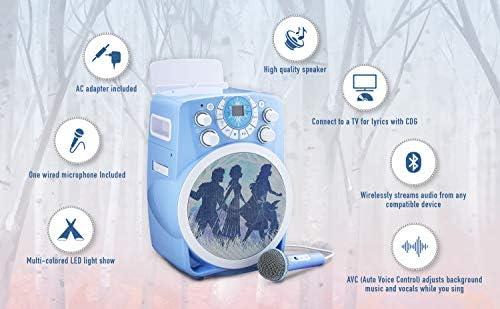 Disney Eiskönigin 2 / Frozen 2 CDG-Karaoke Maschine mit Bluetooth & LED-Lichteffekten für Kinder - eKids FR-673
