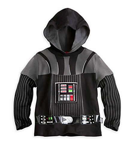 Darth Vader Costumes T-shirt (Disney Store Darth Vader Hooded Tee Costume Shirt (5/6))