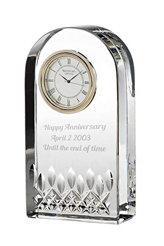 - Waterford Lismore Essence Desk Collection Clock (Personalized Clear)