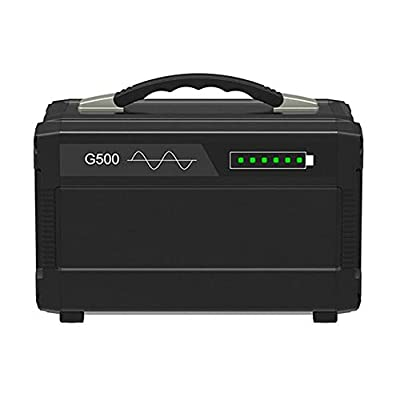 Comprajunta Portable Power Station 500W 120000Mah, AC/DC / USB/Type-C Output, Generator and Inverter for Mobile, Tablets, Laptops and More, 110-220V / 50-60Hz
