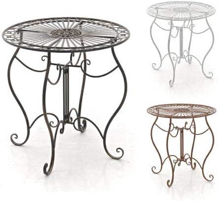 Farbe:antik-gr/ün CLP Eisentisch Indra Design I Gartentisch mit geschwungenen Beinen I erh/ältlich