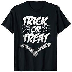 Trick Or Treat Halloween Tshirt Bat Spider