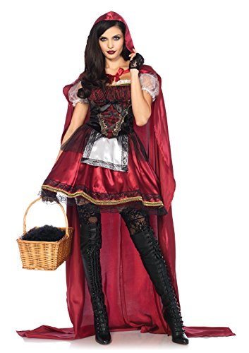 Dark Red Riding Hood (Leg Avenue Women's Red Riding Hood Costume, Burgundy, Small)