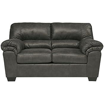 Ashley Furniture Signature Design - Bladen Contemporary Plush Upholstered Loveseat - Slate Gray