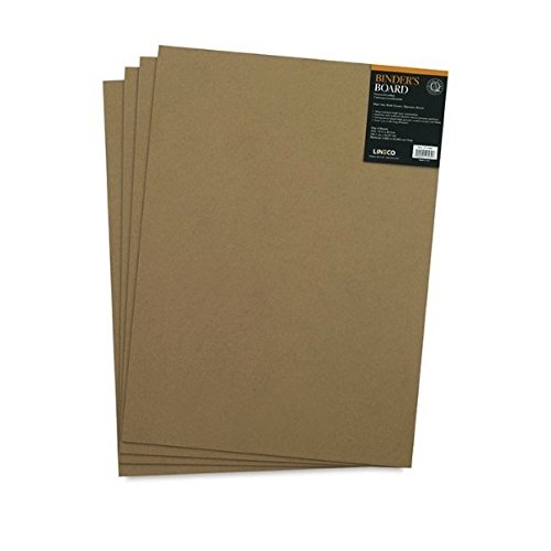 Lineco Acid-Free Book Binders Board, 70 Pt, 15 X 20.5 inches, Grey/Tan, Pack of 4 (473-4070) ()