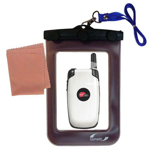 Kyocera KX9D用アウトドアゴマディック防水キャリーケース。水中での使用に適しています - デバイスを清潔でドライに保ちます。   B0049KU64W