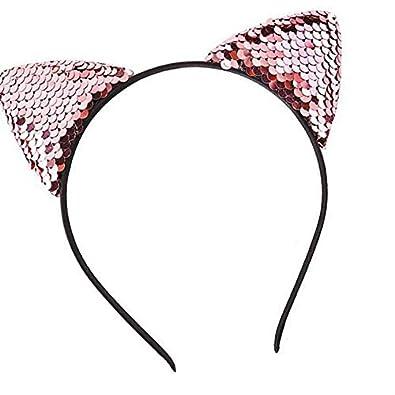 Preciosa para niños niñas Shinning diadema del oído del gato Cabeza linda  del aro de pelo de los niños Adornos Sombreros banda para el cabello  atractivo  ... 70272a2d695a
