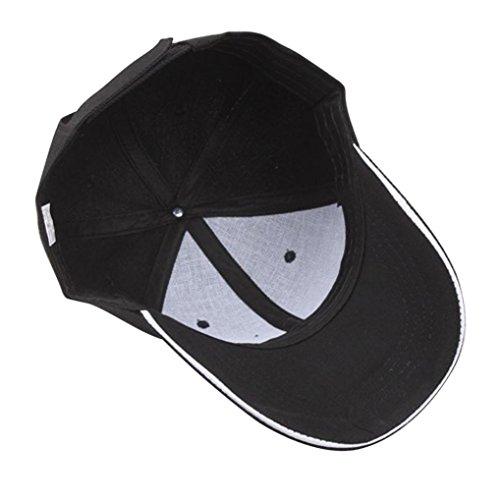 hombre Gorra Gorras para Hip de Negro ajustable ajustable Hop Snapback béisbol Gorra ☀️ beisbol Absolute qfZ8aFEc8
