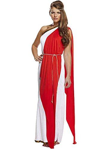 Womens Adult Roman Red Lady Costume Ladies Greek Goddess Fancy Parties Dress#(Roman Red Lady U20212#One Size#Womens)