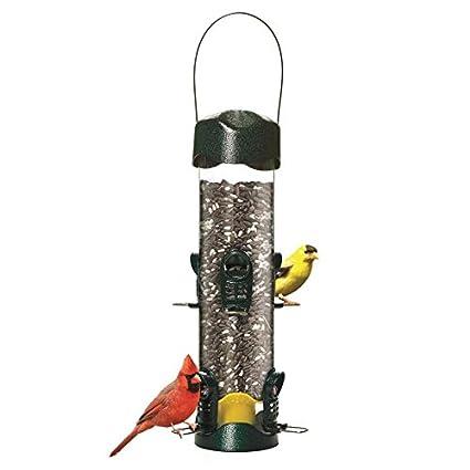 Amazon.com: Mega Garden - Comedero de pájaros de metal verde ...