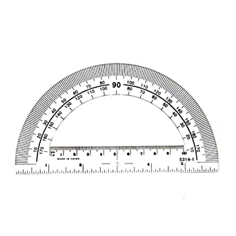 hand2mind Clear, Plastic, Student Math Protractor Set for Classroom (Pack of 100)