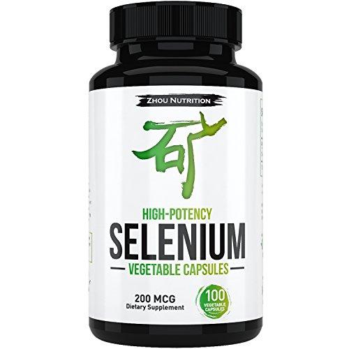 Sélénium organique pour la thyroïde, la Prostate et coeur santé - oligo-minéraux avec Absorption supérieure - levure gratuit - 100 gélules végétales une fois par jour - Made in USA
