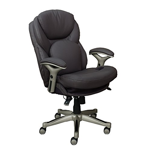 Serta Works Executive Office Chair with Back in Motion Technology, Opportunity Gray Bonded Leather ()