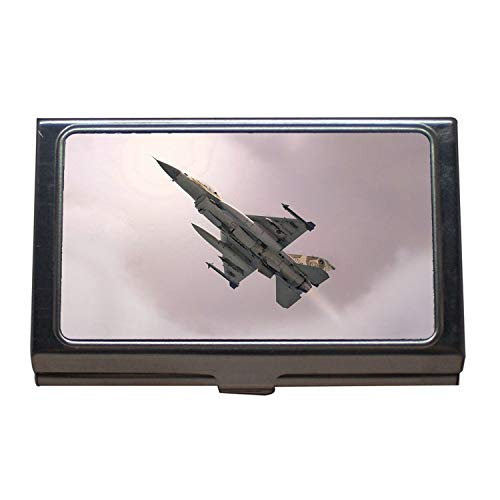 Military Aircraft Pictures Free Business Name Card Holder,Fighter Pilot Costume,Business Card Case Stainless Steel -