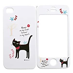Nsaneoo - Full Body Case for iPhone 4/4S - Black Cat
