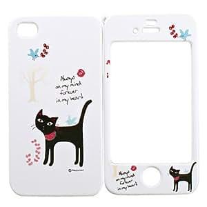 Caso de cuerpo completo para iphone 4/4s - gato negro