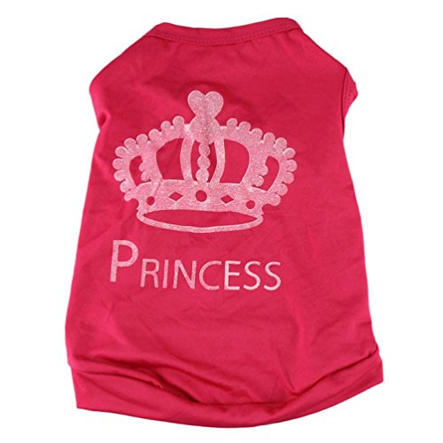 kaifongfu sales,Fashion Pet Dog Cute Princess shirt Clothes Summer Coat Puggy Costume (L, Red) (Cute Dog Costumes Sale)