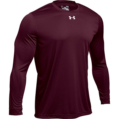 2 T-shirt Tech Logo (Under Armour Men's UA Locker 2.0 Long Sleeve Shirt (Large, Maroon-Metallic Silver))