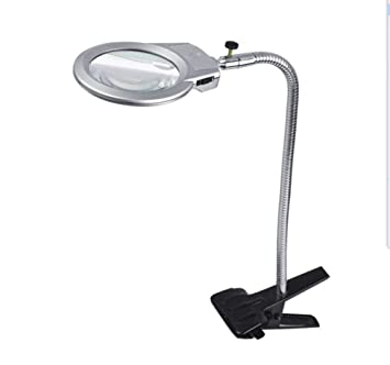 DDOQ Lámpara LED de Vidrio con Abrazadera de Vidrio, 2.25X, 5X ...