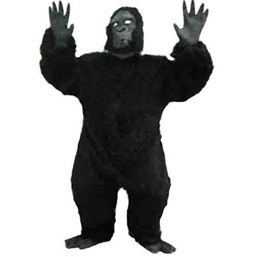 Halloween Cosplay Monkey Chimpanzee Ape Gorilla Costume Fullbody Suit Black (Without (Full Body Gorilla Costume)
