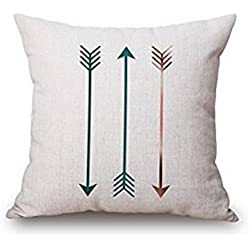 WYD Three Arrows Simple Style Bed Car Home Decor Pillow Case Cushion Cover (Arrow, 18''18'')