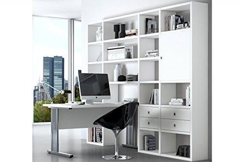 Regal Toro 48 in Weiß lackiert mit Schreibtisch von fif Möbel ...