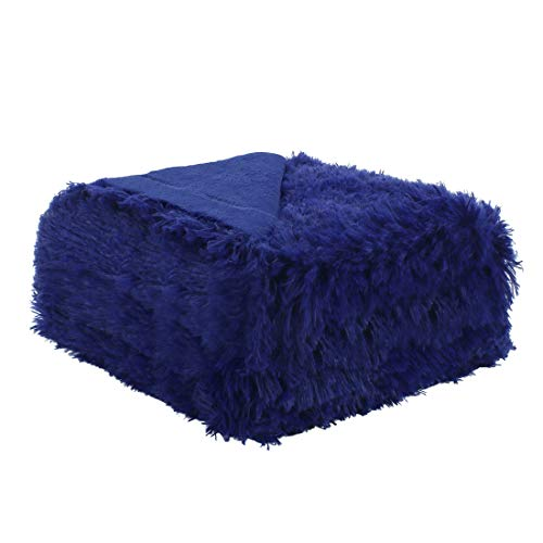 uxcell Solid Faux Fur Throw Blanket 50