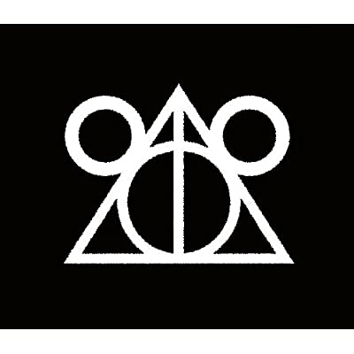 CCI Disney Deathly Hallows Harry Potter Decal Vinyl Sticker|Cars Trucks Vans Walls Laptop|White |5.5 x 4.25 in|CCI1670: Automotive