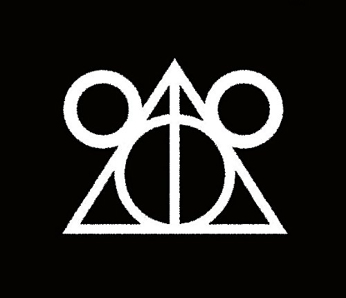 CCI Disney Deathly Hallows Harry Potter Decal Vinyl Sticker|Cars Trucks Vans Walls Laptop|White |5.5 x 4.25 -
