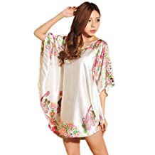 ACVIP Ladies Batwing Sleeve Pajama Nightgown Bathrobe Dress