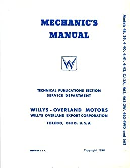 1948 before willys jeep service manual covers cj 2a 463 663 rh amazon com Kaiser Appointment Kaiser Appointment