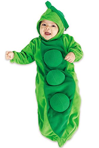 [Mememall Fashion Pea in the Pod Bunting Infant Halloween Costume] (Pea Costumes)