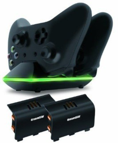 dreamGEAR  Xbox One Dual Charging Dock.  Charge up to two Xbox One Controllers Simultaneously (River Dock)