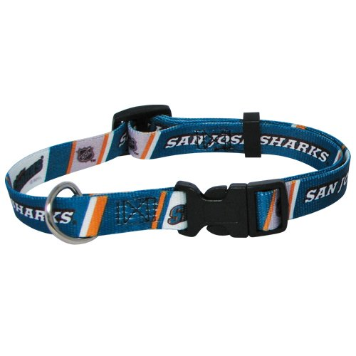 Hunter Mfg. LLP NHL San Jose Sharks Adjustable Pet Collar, Team Color, Medium