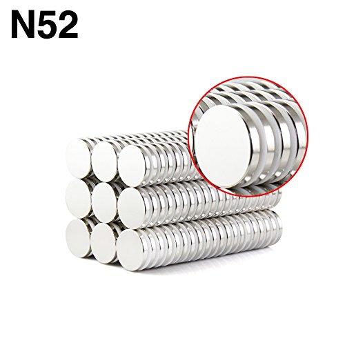 Sunkee 10pcs Pequeño y redondo imanes de disco de diámetro 14x3mm N50 Súper Potente resistente Imán de neodimio de tierras raras de neodimio de neodimio: ...