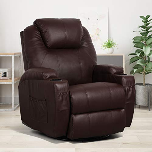 Esright Massage Recliner Chair Heated PU Leather Ergonomic...