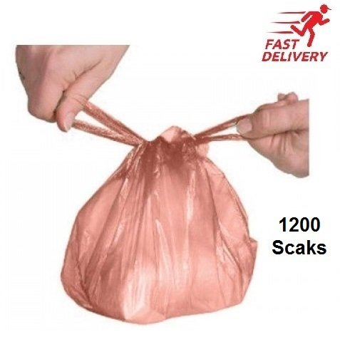 Disposable Nappy Sack Bin Bags Scented ROSE Fragranced with Handle (300 Bags) NewTouch