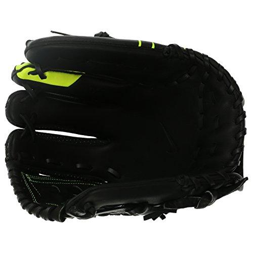 Nike Unisex Youth MVP Edge 12'' Baseball Gloves, Right Hand Thrower (Black-Volt)