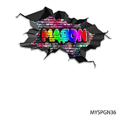 MySticky Vinyl Graffiti Wall Decal + Custom Text/Name | 3D Sticker | -