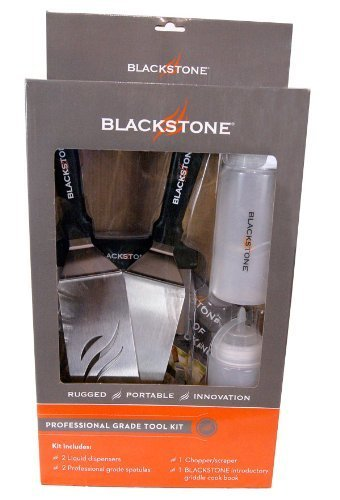 Blackstone-Grill-and-Griddle-Tool-Kit-2-Spatulas-1-Chopper-Scrapper-and-2-Bottles-for-Water-andor-Oil