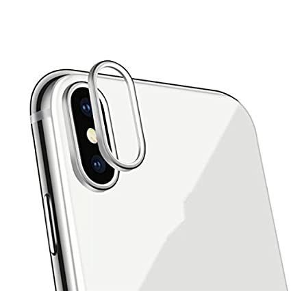 on sale 0d8e6 321e1 SEC iPhone X Back Camera Lens High Quality Aluminium Metal Ring Guard Cover  Protector (SILVER)