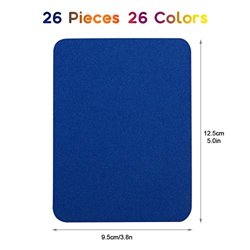 Amazon.com: Iron On Denim Patches for Cloth,26 Colors No-Sew ...