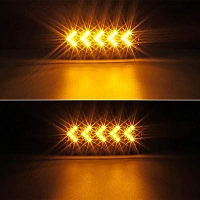 """Partsam 2Pcs 6"""" Oval Arrow Turn Signal Lights Truck Trailer Amber 25LED Surface Mount Smoke Lens Waterproof Sealed Led Marker Lights Indicators Flange Mount 12V: Automotive"""