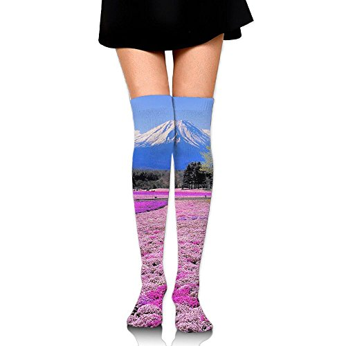 Panoramic Views Over The Knee Long Socks Tube Thigh-High Sock Stockings For Girls & Womens -