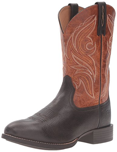 Ariat Mens Heritage Cowpuncher Western Cowboy Boot Iron Coffee Two Tone Tan