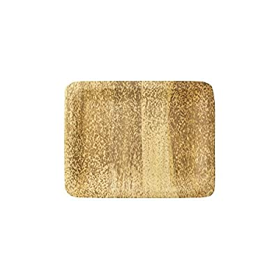 Bamboo Studio 14-3/4-Inch Rectangle Tray, 2-Pack, Natural Color