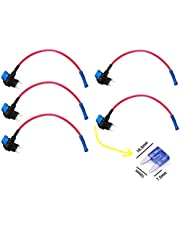 Qiorange 12v Car Add-a-circuit Fuse TAP Adapter Mini ATM APM Blade Fuse Holder Pack of 5