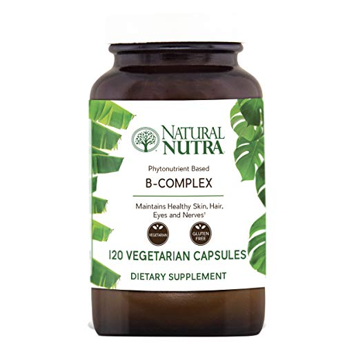 Natural Nutra Vitamin B Complex with Niacin, Folic Acid, Biotin, Whole Food Supplement, 120 Vegetarian Capsules