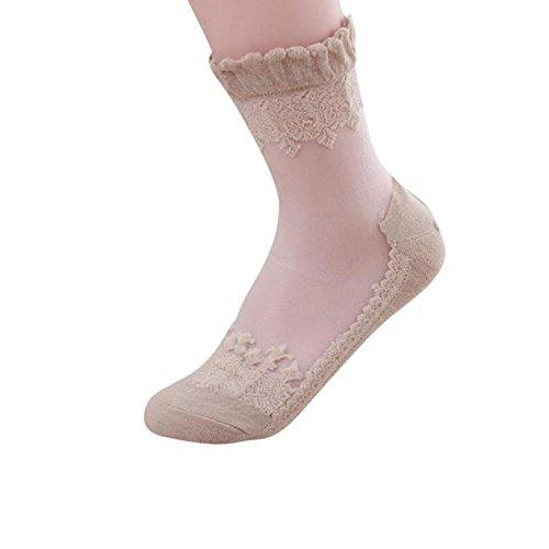 LILICAT/® Calcetines Finos de Mujer Calcetines de Encaje Transparente Ultrafino de Cristal 2018 Calcetines Cortos El/ásticos de Primavera Verano Hermoso,Medias y Calcetines para Adultos