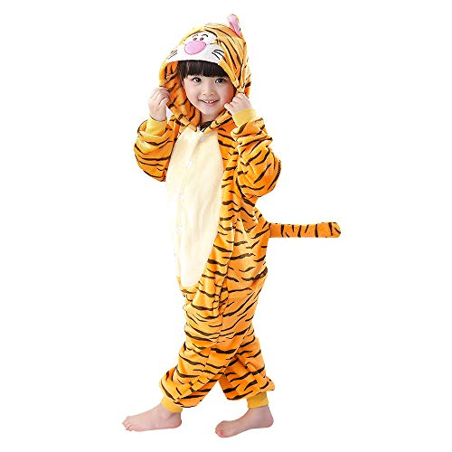 Unisex Children Tiger Pyjamas Halloween Costume 6-7 Years